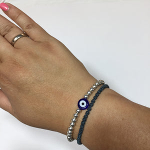 Eye of Protection Silver Bracelet