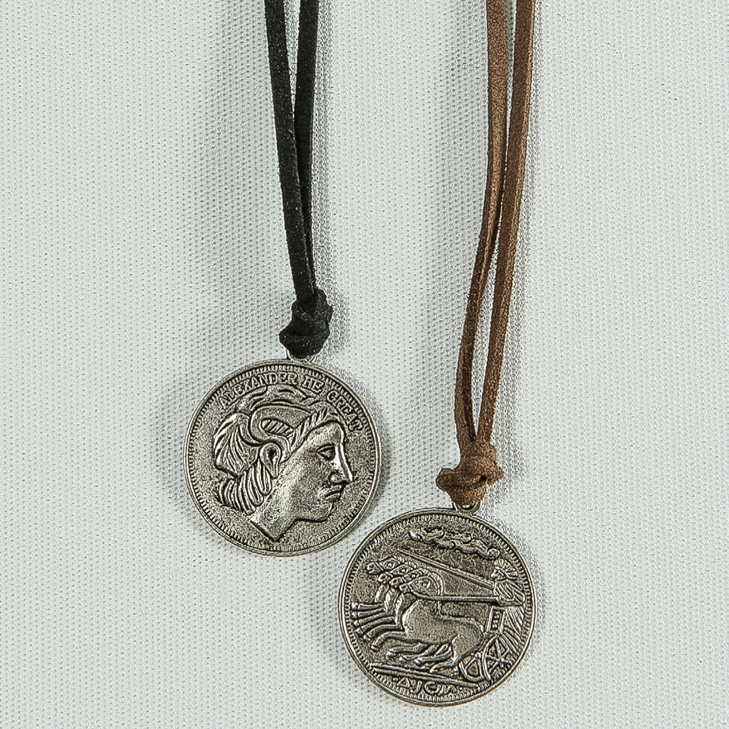 Alexander the Great Pendant Suede Necklace
