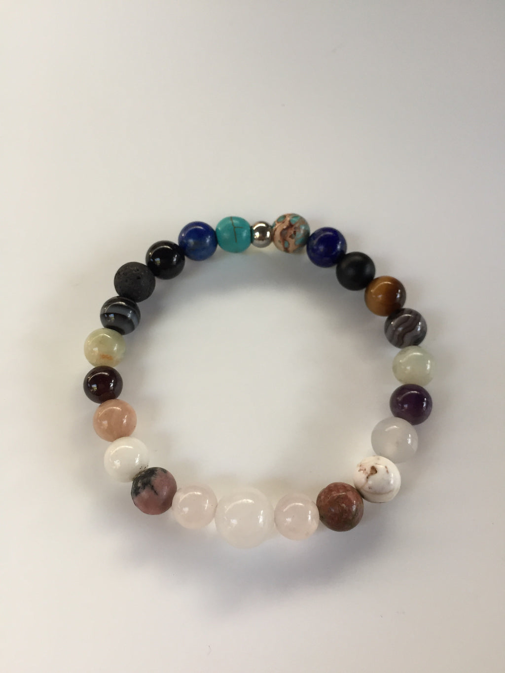 Customised Crystal Semi Precious Stone Bracelet