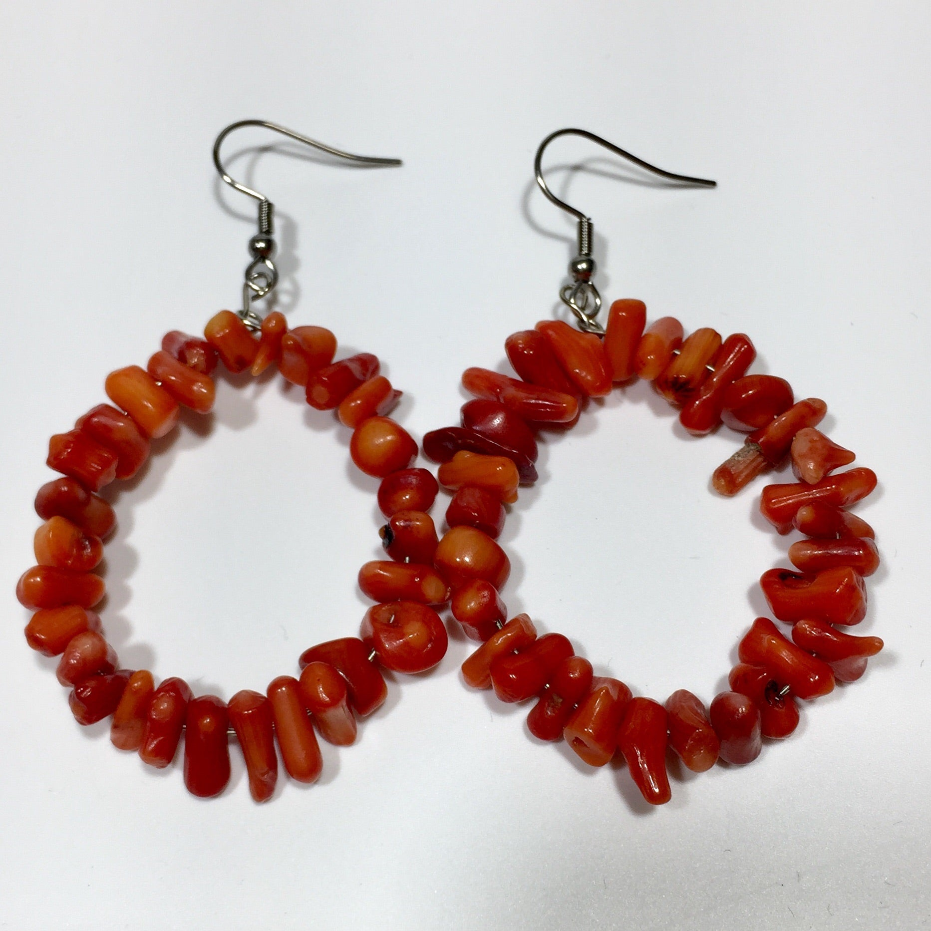 #400 Coral Earrings