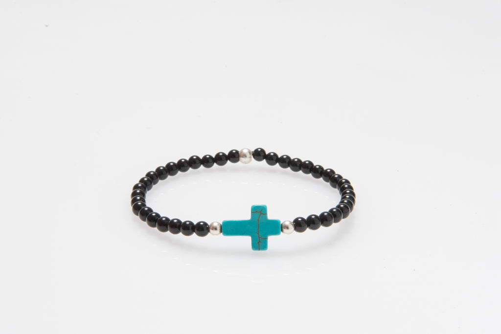 'Angel' Blue Howlite Cross #337