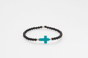 Blue Howlite Cross