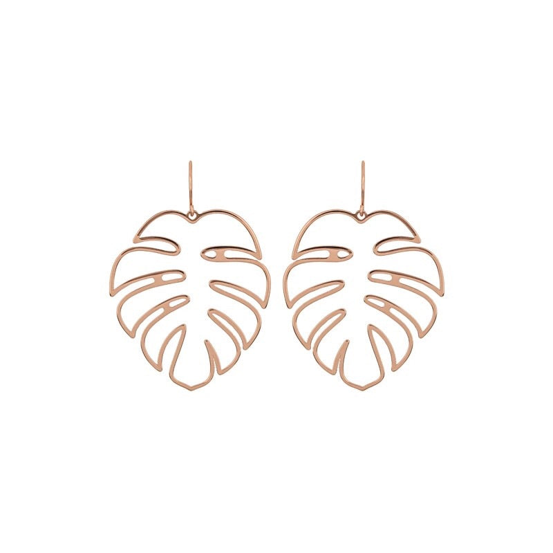 Monstera Leaf Cut out Earrings