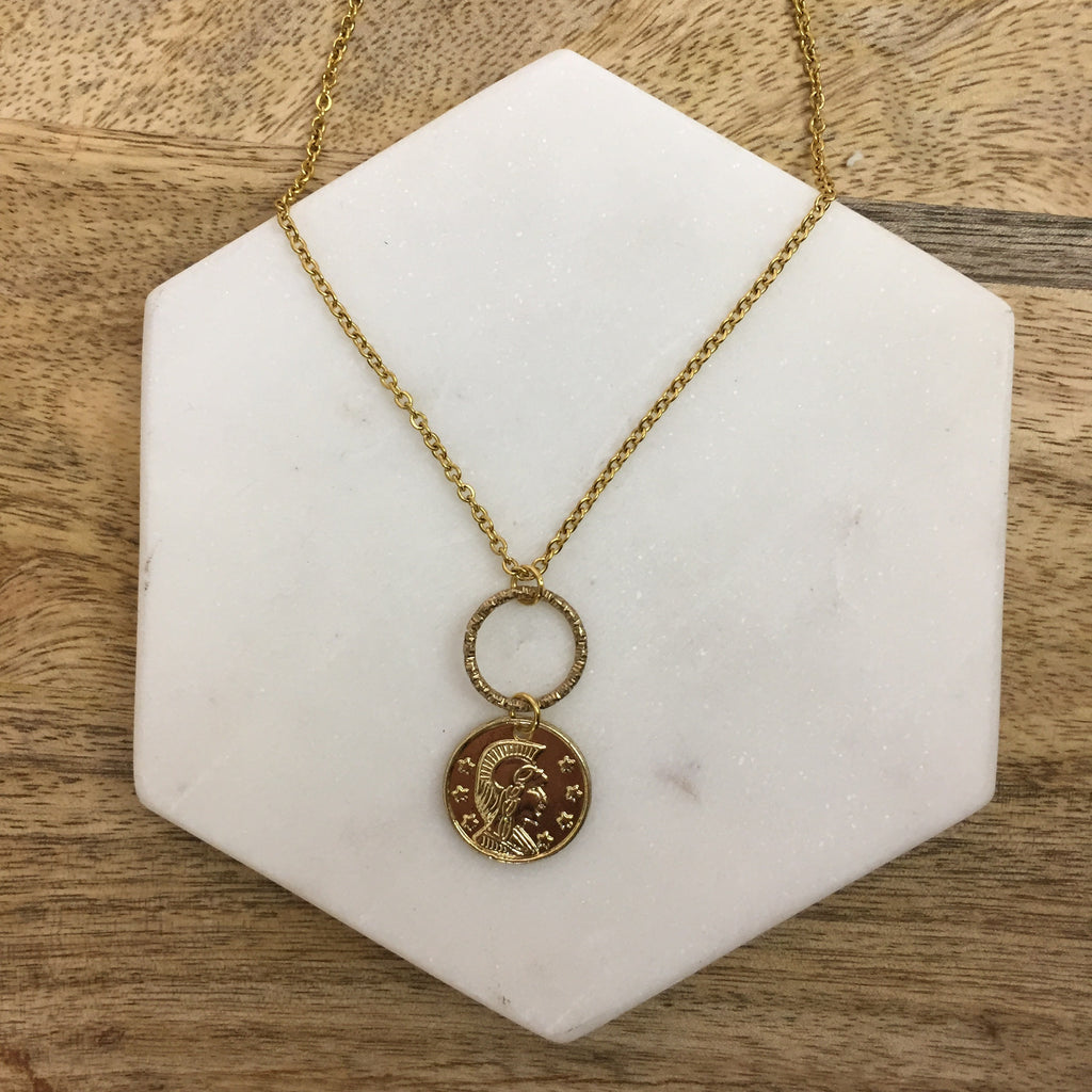 'Fortuna' Gold Coin Necklace