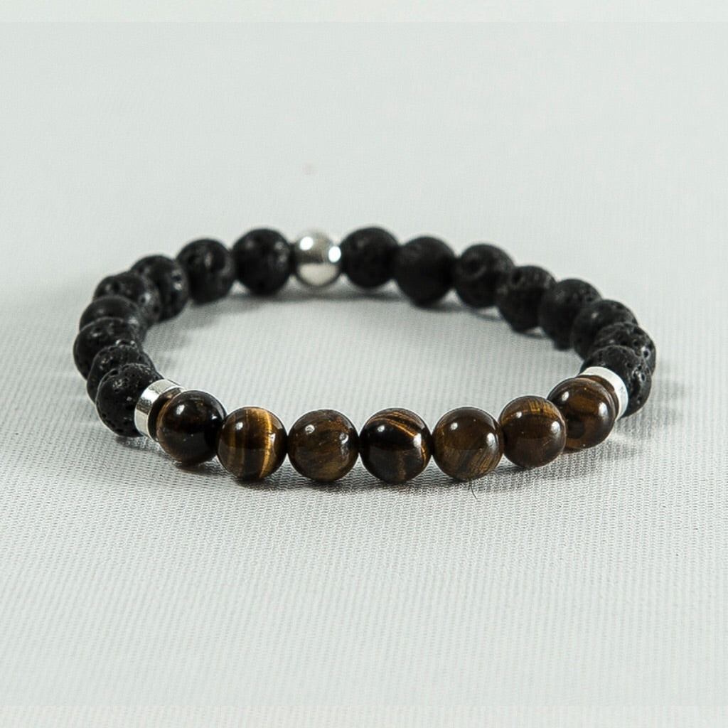 Tiger Eye and Lava Rock #333
