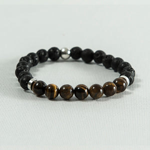 Tiger Eye and Lava Rock