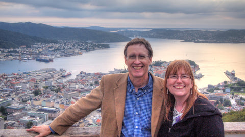 Rick and Jan in Bergen, Norway