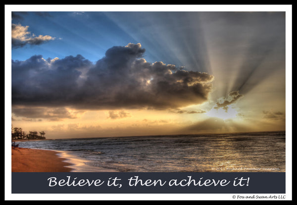 Blank Inspirational Card - Believe01