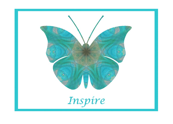Inspire Butterfly notecards and envelopes