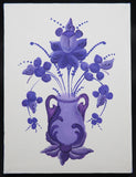 Blank Note Card - Purple Rosemal