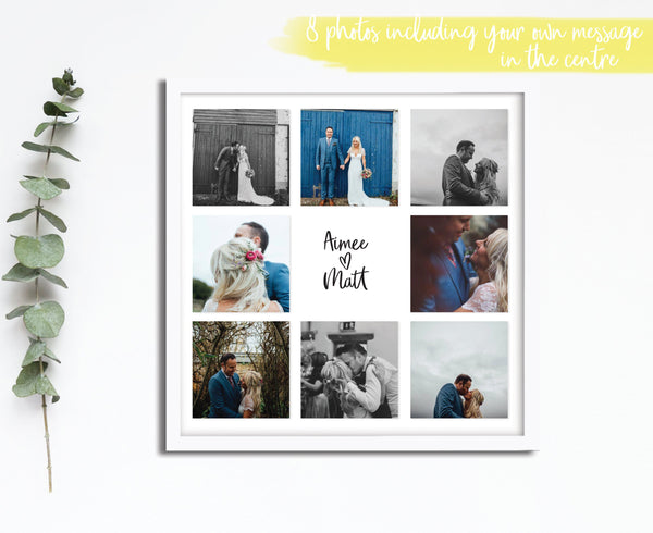 Personalised Wedding Photograph Print