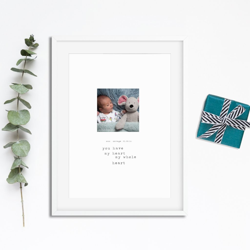 Personalised Photo Baby Print