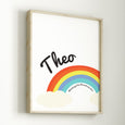 Personalised Rainbow And Cloud Print
