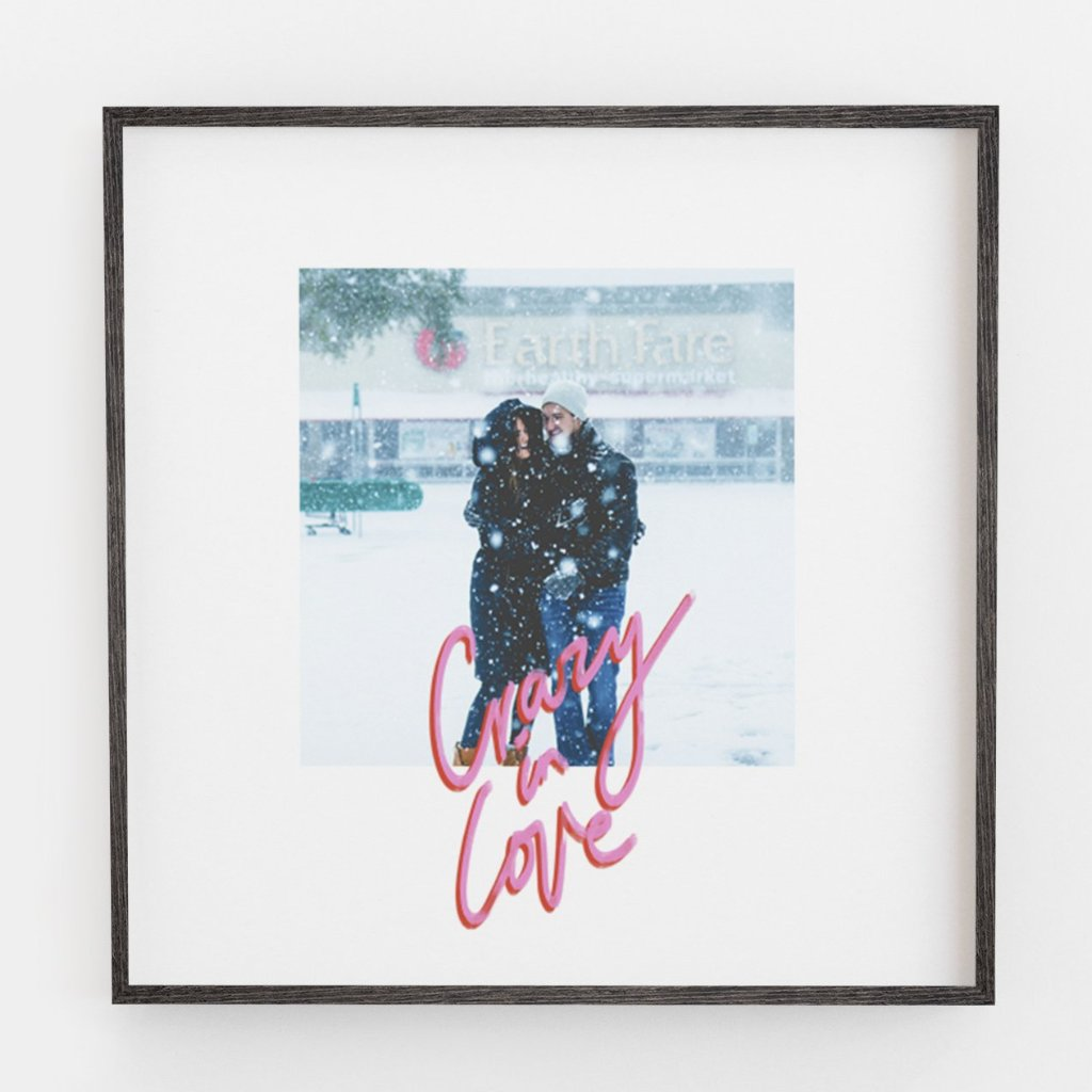 Crazy in Love Square Photograph Print