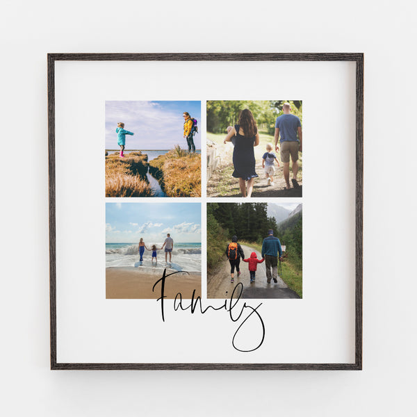 Family Four Image Print WIth Script Writing