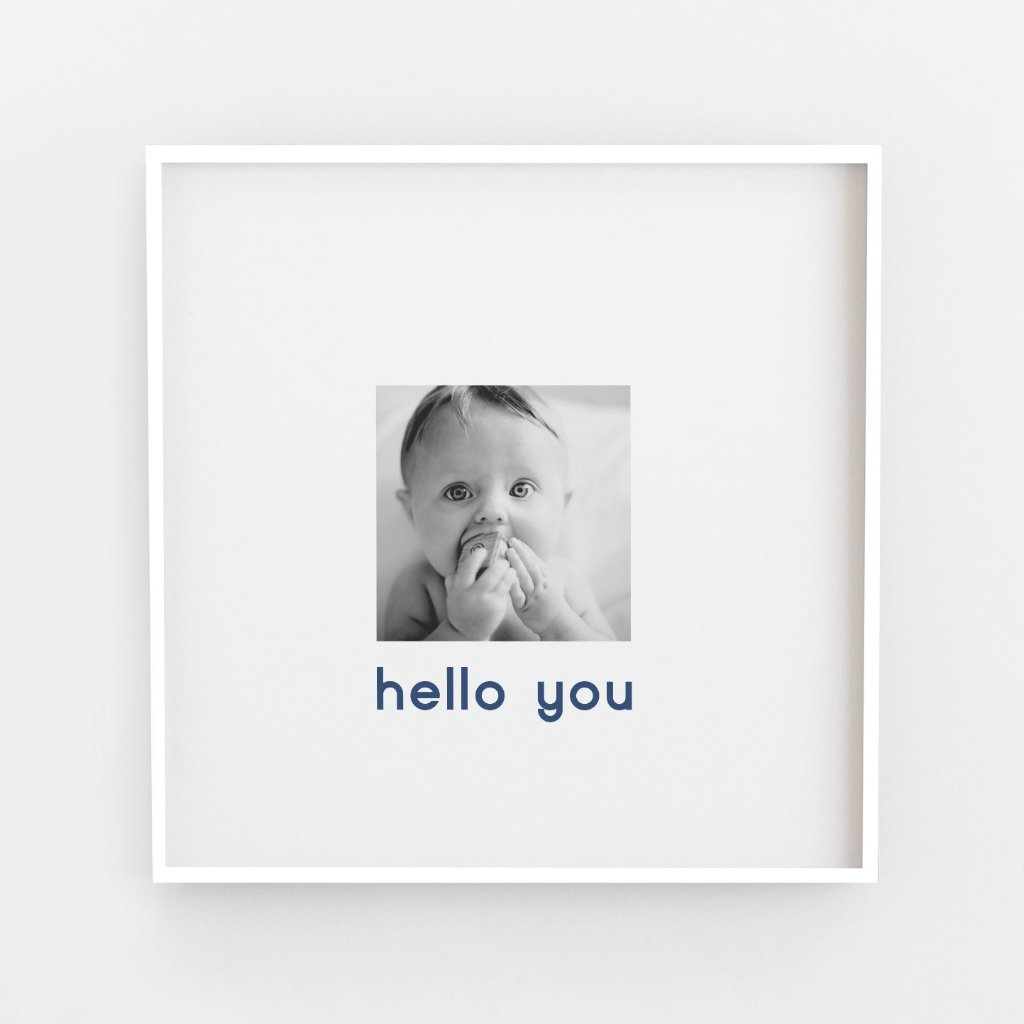 Hello You Mini Typography New Baby Print
