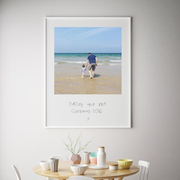 Personalised Childs Writing Fathers DayGift,Father's Day Gift, Gift For Dad,Daddy Gift, First Fathers Day, Personalized Print, Photo Art
