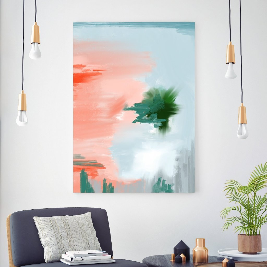 Miami at Dusk Abstract Art Print