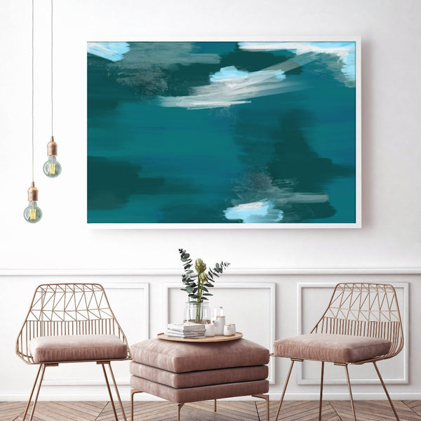 Storm Abstract Art Print Large Wall Art.