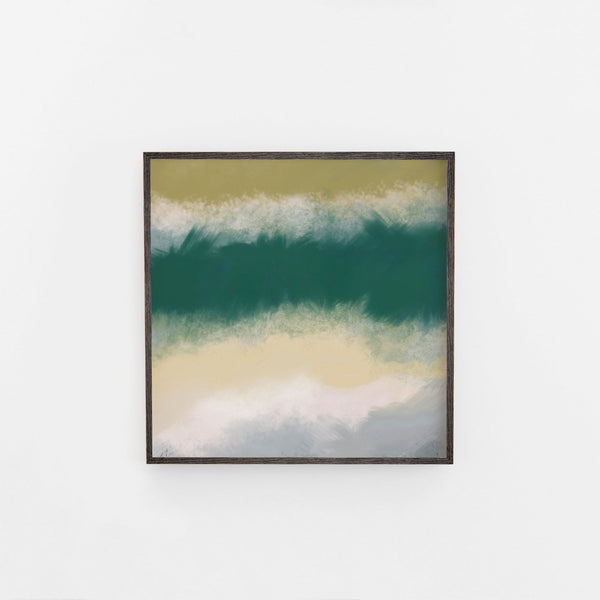 Square Green and Meadow Abstract Art Large Wall Art.