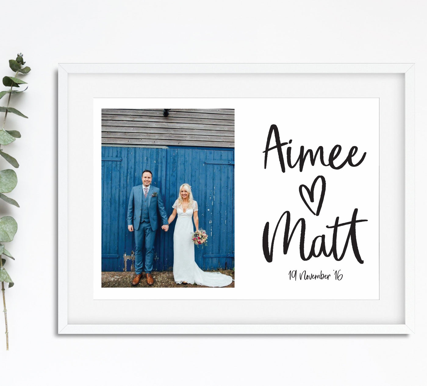 Wedding Single Photograph Print