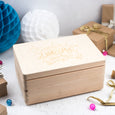 Childrens Wooden Personalised Chrismas Eve Box.