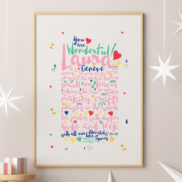 Bespoke Thank You Special Teacher Print