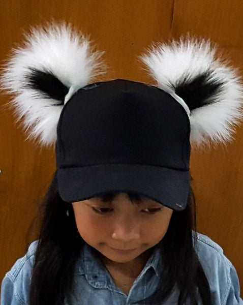 Magnetic black & white ears