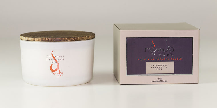 3 Wick Candle<br><b>Patchouli, Cardamon & Pine</br></b>