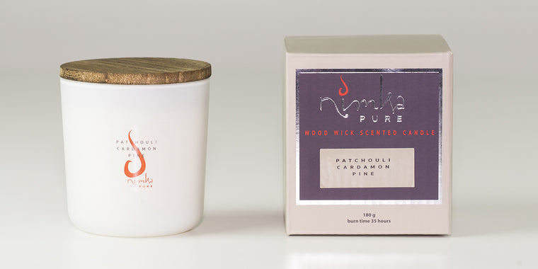 Small Candle<br><b>Patchouli, Cardamon & Pine</br></b>
