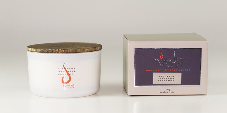 3 Wick Candle <u>LIMITED EDITION</u><br><b>Cinnamon, Mandarin & Cardamon</br></b>
