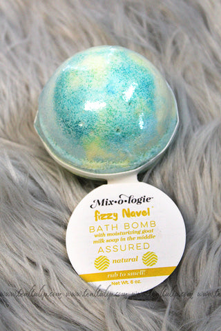 FIZZY NAVEL BATH BOMB IN THE SCENT ASSURED - The Teal Tulip - www.tealtulip.com