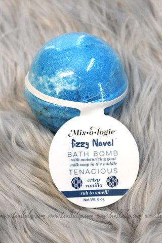 FIZZY NAVEL BATH BOMB IN THE SCENT TENACIOUS - The Teal Tulip - www.tealtulip.com