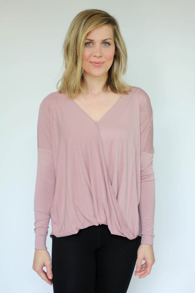 LILLY WRAP SHIRT DUSTY PINK - The Teal Tulip - www.tealtulip.com