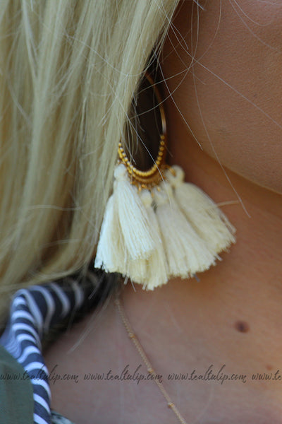 COUNTRY CRUSH TASSEL EARRINGS (7 COLORS) - The Teal Tulip - www.tealtulip.com