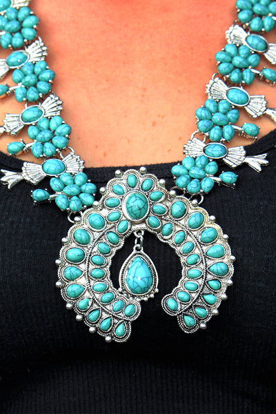 OVER THE TOP SQUASH BLOSSOM NECKLACE - The Teal Tulip - www.tealtulip.com