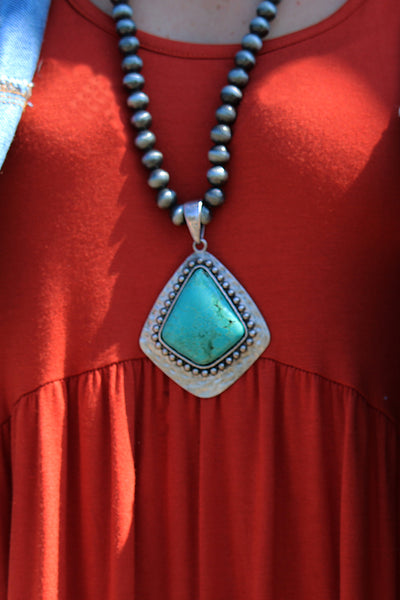 HOME FREE TURQUOISE NAVAJO PEARL NECKLACE - The Teal Tulip - www.tealtulip.com