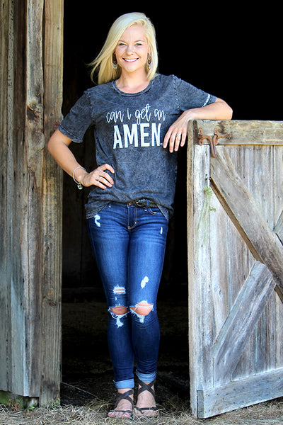 """CAN I GET AN AMEN"" TEE - The Teal Tulip - www.tealtulip.com"