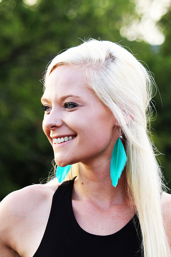 LIGHT AS A FEATHER EARRINGS - The Teal Tulip - www.tealtulip.com