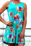 FLATTER ME FLORAL SWING DRESS IN MINT - The Teal Tulip - www.tealtulip.com