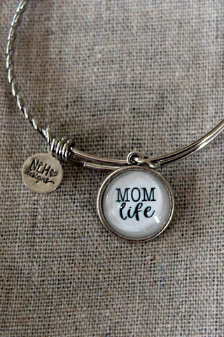 """MOM LIFE"" BANGLE BRACELET - The Teal Tulip - www.tealtulip.com"