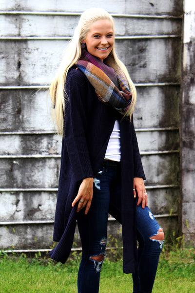 FIT TO BE TIED NAVY SWEATER - The Teal Tulip - www.tealtulip.com
