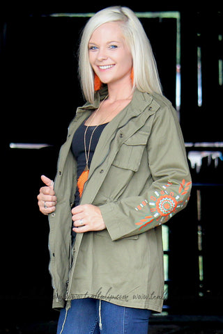 TRIBE OF MY OWN OLIVE CARGO JACKET - The Teal Tulip - www.tealtulip.com