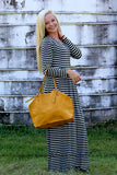 SIMPLY LOVE LONG SLEEVE STRIPPED MAXI DRESS IN OLIVE - The Teal Tulip - www.tealtulip.com