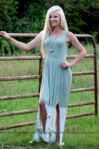 GOOD VIBES OLIVE TIE-DYE MAXI DRESS - The Teal Tulip - www.tealtulip.com