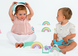 Dena - Fun and safe silicone based free play kit of 12 Rainbows