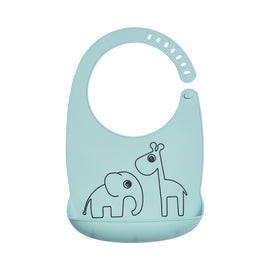 Done by Deer - Silicone bib, Deer friends - Color: Blue, Grey, Powder