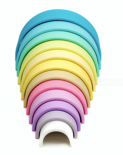 Dena - Fun and safe silicone based free play kit - 12 Rainbows Pastel