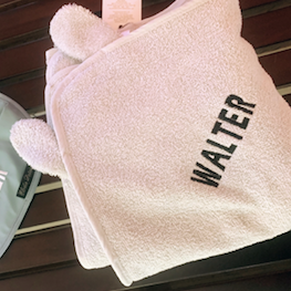 Personalised Hooded Towel Grey