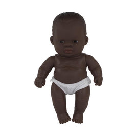 Miniland - Baby Doll African - Boy or Girl 21CM